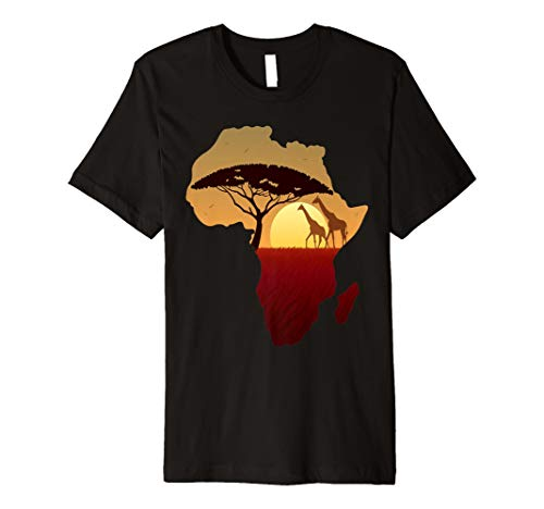 Giraffe Kinder-t-shirt (Afrika T-Shirt Giraffe Karte Dad South Tiere Big Five Safari)