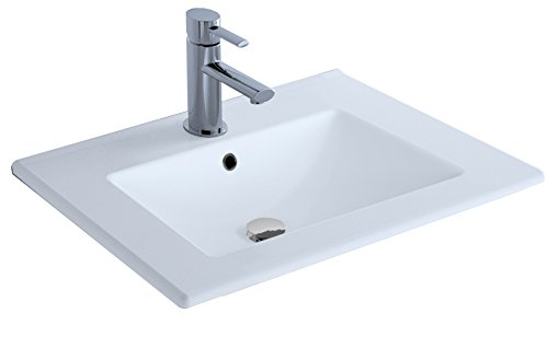 Cygnus Bath - Keramikwaschbecken 70 cm, Extra flach