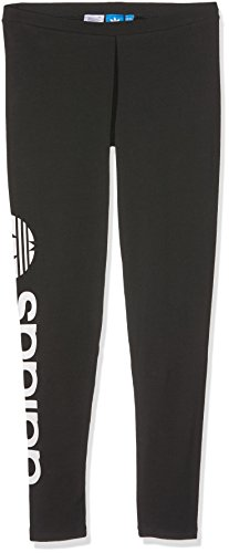 adidas Damen Linear Leggings, Black, 44