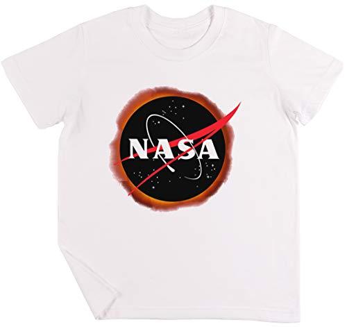 NASA Solar Eclipse Niños Chicos Chicas Unisexo Camiseta Blanco