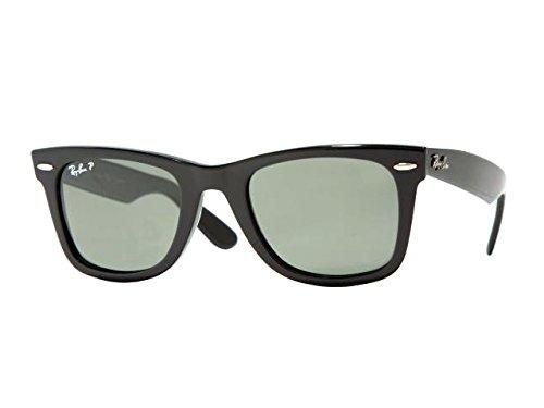 Ray-Ban RB2140 901/58 Schwarz RB2140 Wayfarer Sunglasses Polarised Fishing, Driving Lens Category 3 Size 50mm