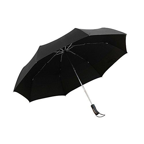Rainy worth Leichter Regenschirm XXL Automatisch Öffnen windsicher Golf Schirm für 2 Personen Blau Schwarz
