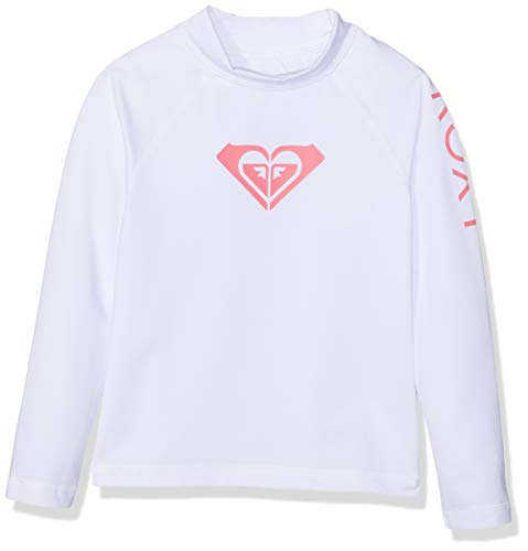 521008ad8a877 Roxy Whole Hearted L/SL Surf tee, Niñas, Bright White, 4