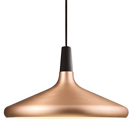 LED Hängeleuchte Vintage mit Leuchtmittel 7W = 60W E27 opal Filament Retro Industrie Design Metall Hängelampe (Kupfer, Bowl flach)