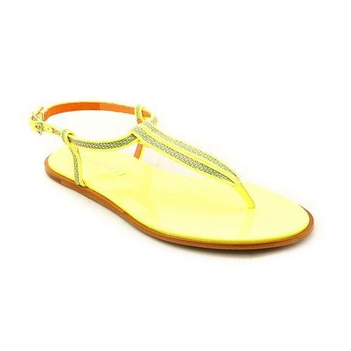 Via Spiga Cynna Femmes Synthétique Tongs - Amarillo - Neon Yellow