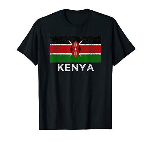 Kenia Flagge T-Shirt für Männer Frauen und Kinder