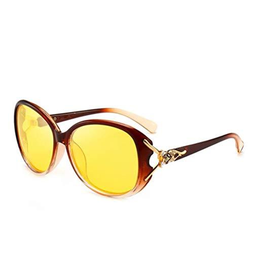 CASEY-L Sonnenbrillen, Women's Tide Ins Polarisierte UV-beständige Allergie-Brille Langes Gesicht Nachtsichtbrille Persönlichkeit Mode G