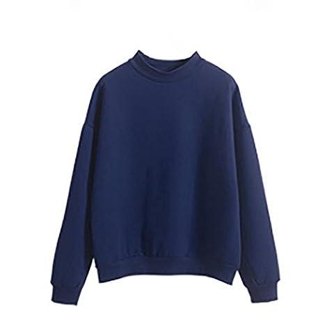 DAYLIN 1PC Women Girl Plus Size Sweatshirt Long Sleeve Crop