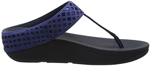 FitFlop Safi Tm Toe Post, Infradito Donna Blue (Royal Blue)