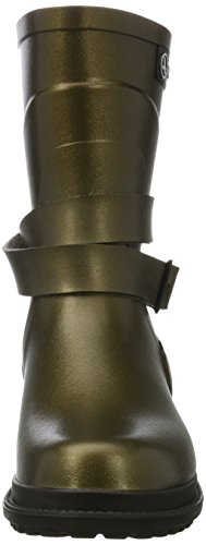 Aigle Ladies Macadames Md Short Boots Gold (oro Bronzo / Noir)