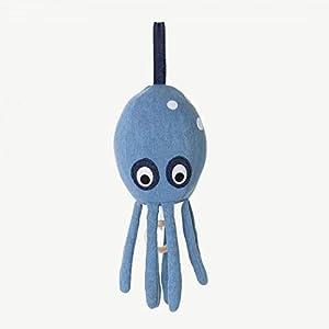 Ferm Living Spieluhr, Baumwolle, blau, B: 10 x H: 30 x T: 10 cm