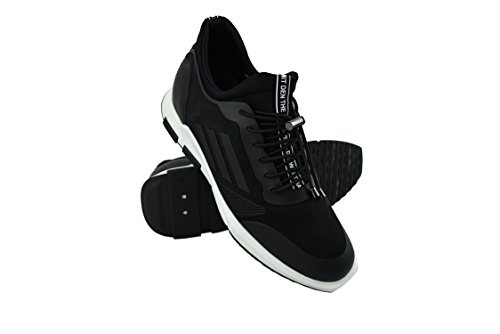 Zerimar Zapatos Deportivos con Alzas Interiores para Caballeros Aumento 7 Cm Zapato Piel Color Negro Talla 42