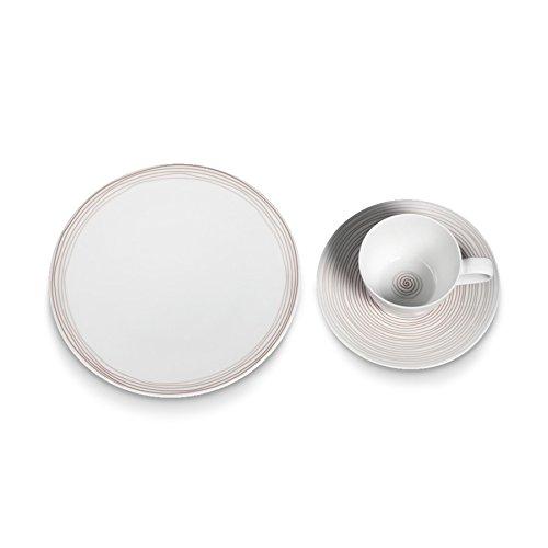 Seltmann Weiden 001.738549 Fashion Ammonit Kaffeeservice 18-teilig, Braun