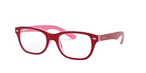 Ray-Ban Junior Unisex-Kinder 0RY 1555 3761 48 Brillengestelle, Transparente Pink On Top Bordeaux