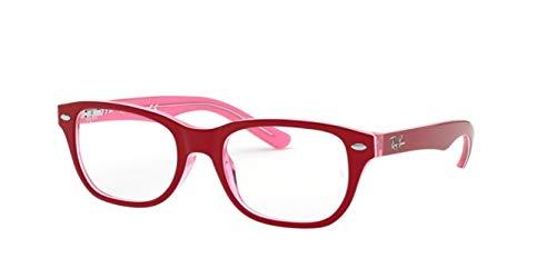 Ray-Ban Junior Unisex-Kinder 0RY 1555 3761 48 Brillengestelle, Transparente Pink On Top Bordeaux