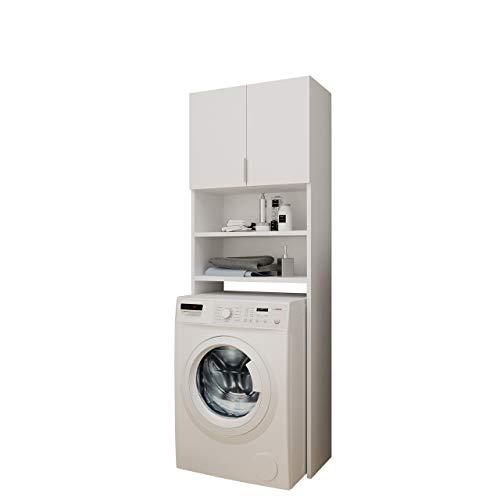 Mirjan24 Badezimmerschrank für die Waschmaschine Mosa, Waschmaschinenschrank, Badhochschrank, Badschrank, Badregal...