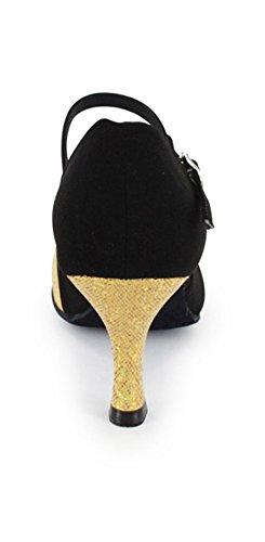 TDA ,  Damen Tanzschuhe Schwarz / Gold