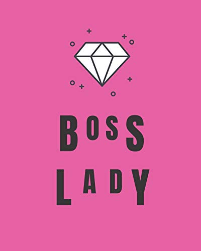 BOSS LADY: July 2019-December 2020 18-Month Weekly and Monthly Planner with White Diamond and Pink Background