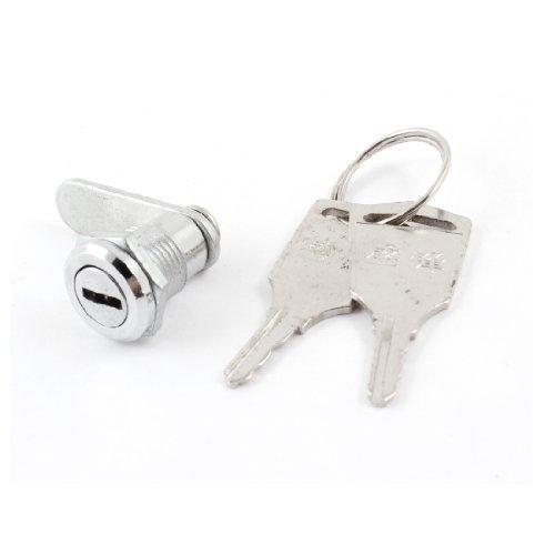 sourcingmap® Home Schrank Cabinet 11,5 mm Gewinde Vierteldrehung Cam Lock w zwei Schlüssel