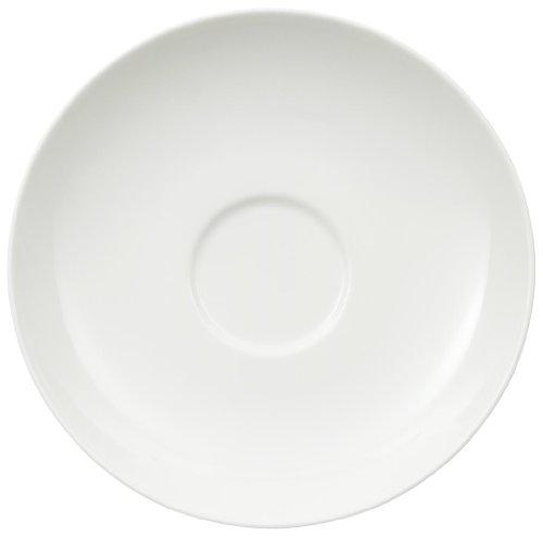 Villeroy & Boch Royal Untertasse, 15 cm, Premium Bone Porzellan, Weiß