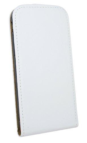 Iphone 7 // Klapptasche Schutztasche Schutzhülle Flip Tasche Hülle Zubehör Etui in Weiß Tasche Hülle @ Energmix Weiá