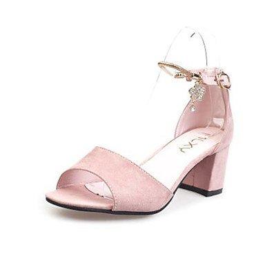 LvYuan Da donna Sandali Comoda Vellutato PU (Poliuretano) Primavera Casual Comoda Nero Grigio Rosa Piatto blushing pink