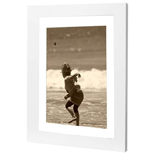 Bilderrahmen Fotorahmen 30x90 cm weiß bilderrahmen zum aufhängen MDF Picture Frames Farbe und 40 Verschiedene Größen wählbar ohne Passepartout Rahmen Ayleen