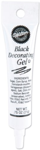 Cake Decorating Gel (Decorating Gel .75oz-Black)