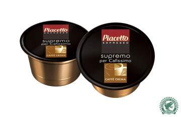 Piacetto 479082 Kaffee-Kapseln Caffè Crema Cafissimo