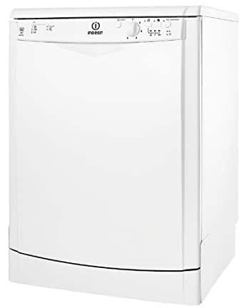 Indesit DFG 251 EU Autonome 12places A lave-vaisselle - lave-vaisselles (Autonome, Blanc, Blanc, boutons, Rotatif, 12 places, 52 dB)