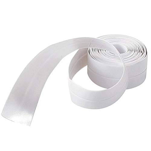 Yardwe Wanddichtungsstreifen Dichtungsstreifen Mehltau Dichtmittelband Wasserdichtes WC Gap Corner Line Sticker (Weiß, Klein)