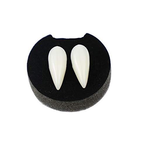 ZYCX123 Künstliche Vampir Gebiss Zähne Halloween-Kostüm-Partei Cosplay Fangs Props Zombie Vampir Gebiss Zähne mit Box 1 - Gold Zahn Kostüm