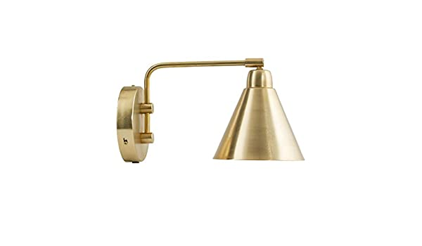 House doctors wall lamp game brass white dia cm l cm