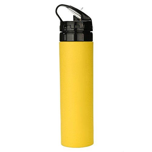Hniunew Sport Schnelles Trinkwasser Wasserkocher Strohkessel Stroh Wasserflasche Tragbare Silikon Trinken Klapp Tasse Faltbare Reise Camping Auslaufsicher Sportflasche Kunststoff Flasche