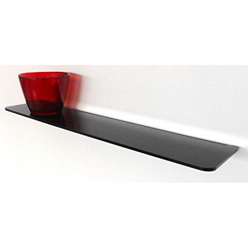 Mensola hob con alzata per montaggio a muro nera