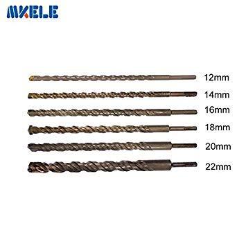 16Mm: 350Mm Bits Broca martillo vástago redondo metal