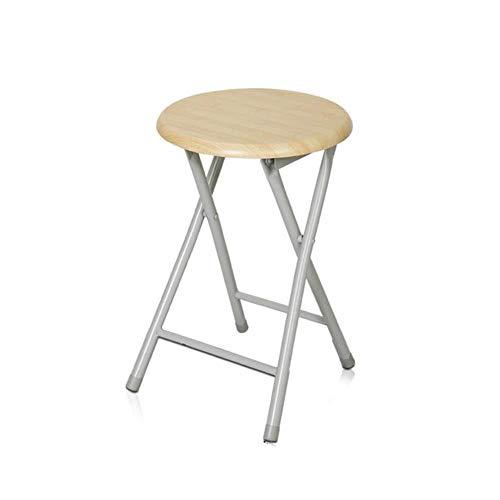 FENGFAN Faltender Schemel-Stuhl-Stahlrahmen-tragbares Möbel-rundes Küchen-Frühstücks-im Freien -