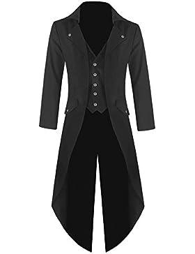 Star Leather Existencia RU para hombre de Halloween Steampunk Frac Chaqueta Gótico Victoriano Boda/fiesta abrigo