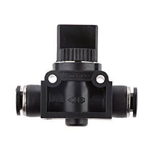 veroda 6mm/1/10,2cm Shut Off Schalter Ventil Pneumatik-Vakuum Push In Steckverbinder Air Quick Fittings Adapter Gelenk Control
