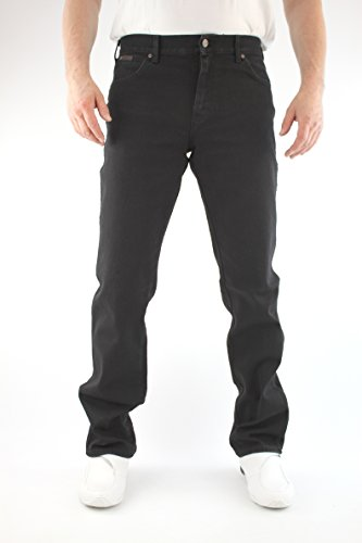 Wrangler Jeans Texas Black Overdye Elasticizzato W12109004 Nero (Black Overdee)