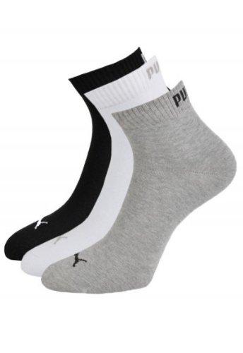 PUMA Training Quarters 12er Pack + 1 Paar Adidas Socken Gratis, Farbe:grau/weiß/schwarz; Größe:39-42 - 12er Pack + 1 Paar Adidas Socken GRATIS