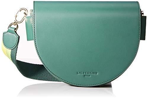 Liebeskind Berlin Damen Mixedbag Medium Crossbody Umhängetasche, Grün (Dark Green), 6.0x20.0x27.0 cm