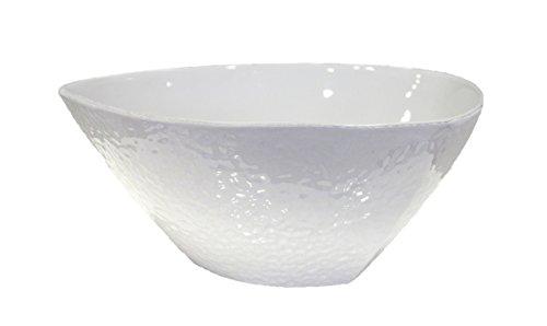 Keyhomestore Schüssel Keramik weiß bucellata Durchmesser cm.32Höhe cm.14