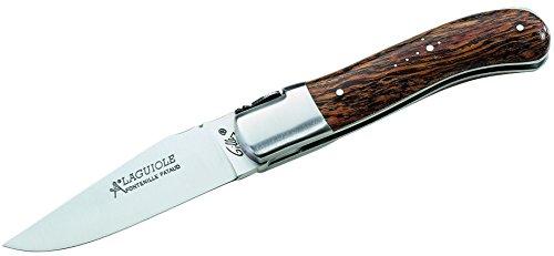 Pataud Opinel Couteau de Poche Opinel Slim Line, Taille 10, Inoxydable, Bois de bubinga, Gris, M, 1010297110