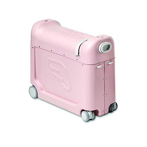 JetKids by Stokke - RideBox - großräumiger Kinderkoffer als Handgepäck im Flugzeug, Zug oder im Auto zum Aufsitzen, Ziehen und Gezogenwerden - Farbe: Pink Lemonade