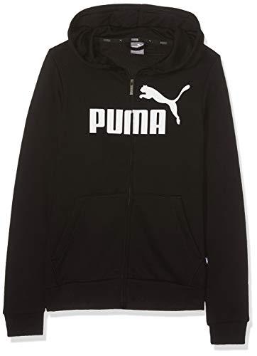 PUMA Mädchen ESS Hooded Jacket TR G Sweatjacke, Black, 140 - Mädchen Kleidung Puma