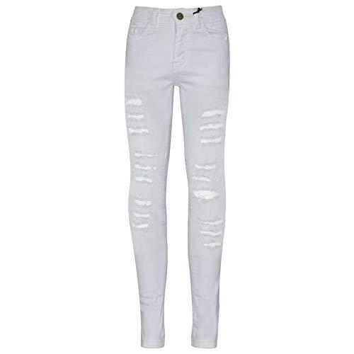 8 Kinder-jeans-jeans (A2Z 4 Kids Kinder Mädchen Dünn Jeans Designer Denim - Girls Jeans JN28 White 7-8)