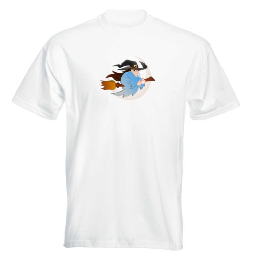 T-Shirt - Hexe 11 - Halloween - witch - Herren - unisex Weiß