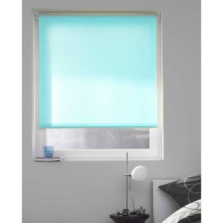Cortina Casa - Estor Enrollable Tamizante Liso Azul Turquesa