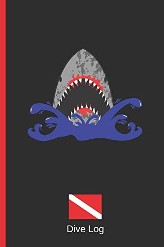 DIVE LOG: DETAILED SCUBA DIVING LOGBOOK FOR UP TO 120 DIVES. CREATIVE AND HANDY GIFT FOR DIVERS. SHARK. -
